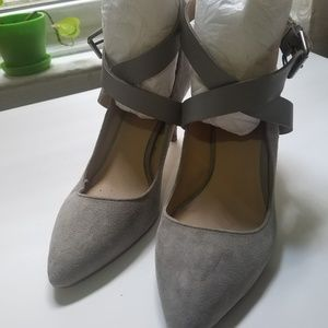 Grey Heels with cute straps - Size 7M